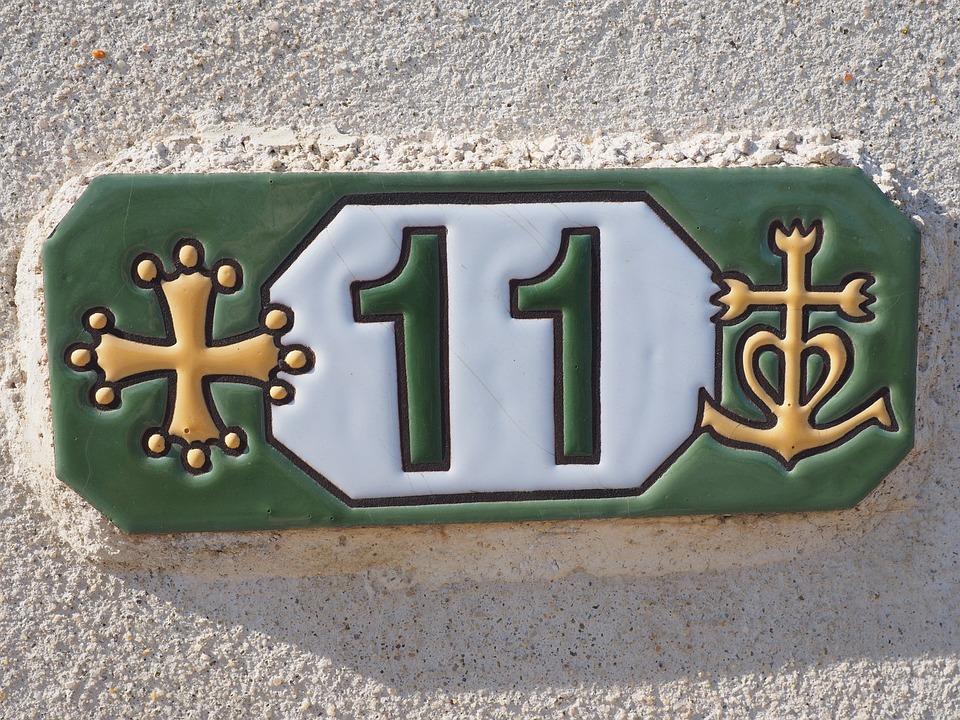 House Number, Board, Tile, Number, 11, Numbering