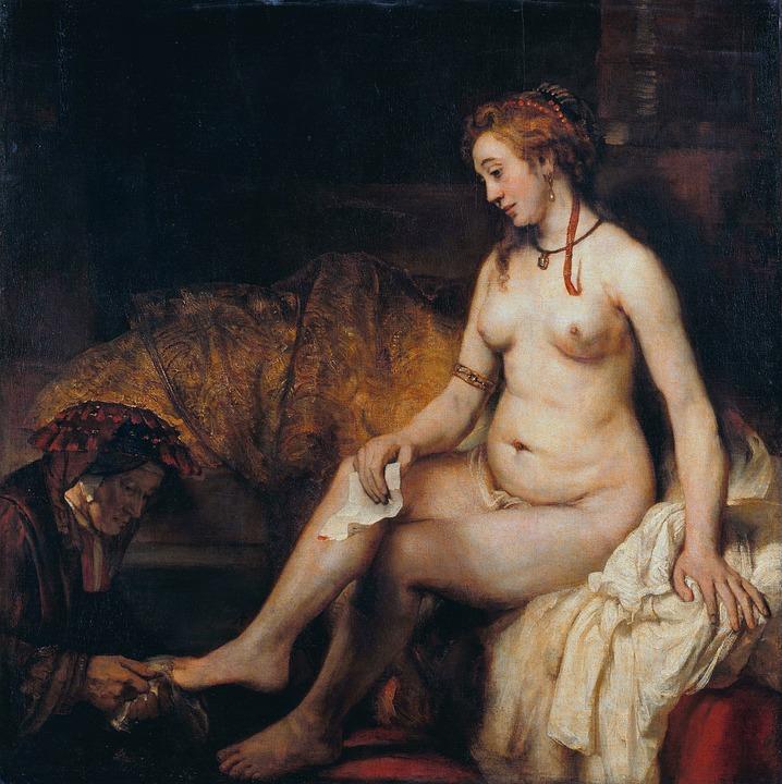 Bathsheba Bathing, 1654, Rembrandt, Letter David