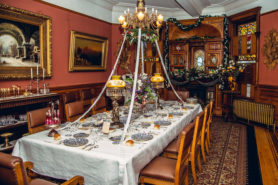 Old, 18 Century, Dining Room, Interior, Design