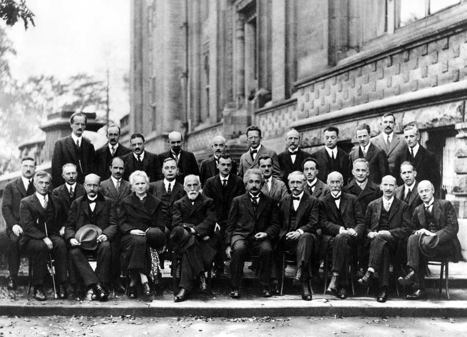 Einstein, Physicist, Conference, Solvay, 1927