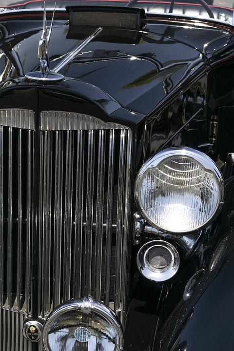 Packard Super 8, 1934, Convertible, Roadster, Retro
