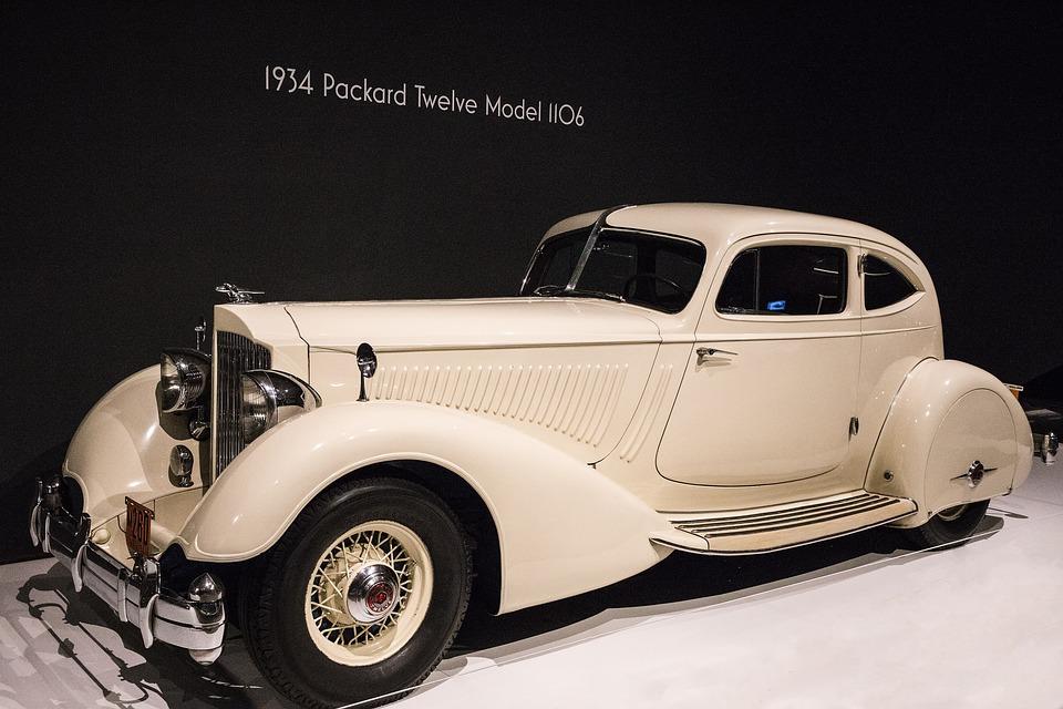 Car, 1934 Packard Twelve Model 1106, Art Deco
