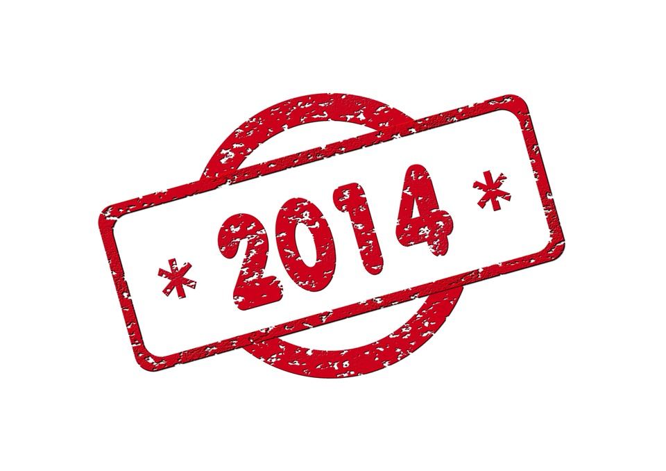 Stamp, Characters, Label, 2014, New Year's Day