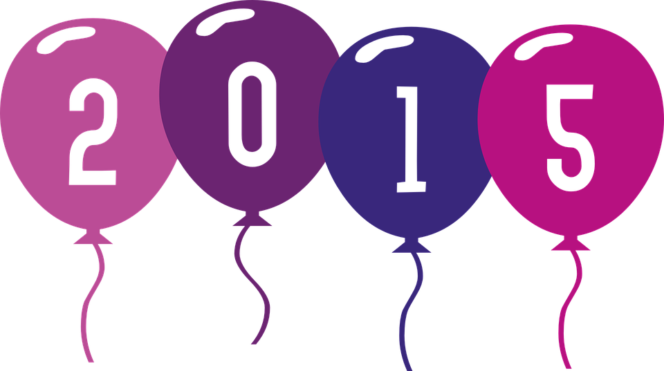 Free photo 2015 Balloon Year Balloons - Max Pixel