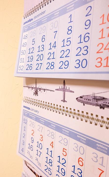 Calendar, Paper, Number, Date, Figures, 2017