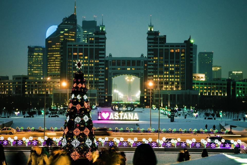 Astana, Kazakhstan, New Year's Eve, 2017, Winter