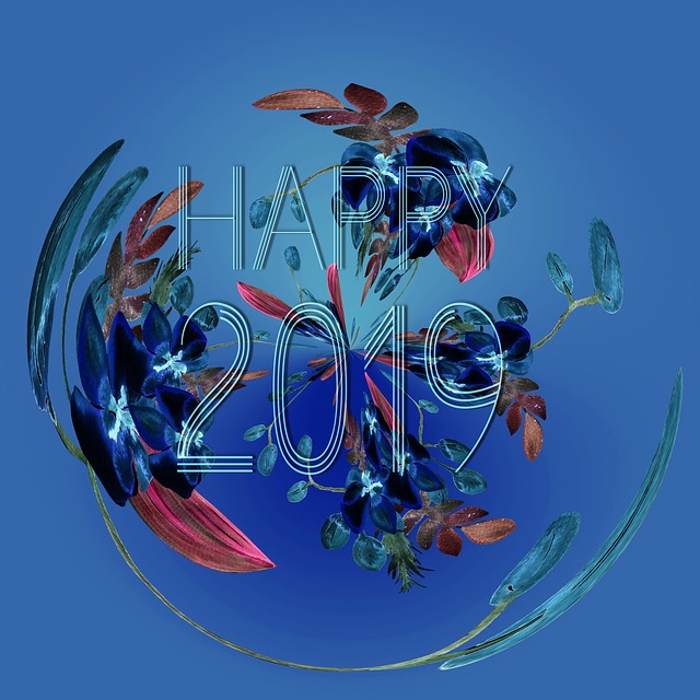 happy new year 2019 greeting celebration card