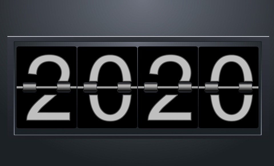 New Year, 2020, Numbers, Clock, Mechanical, Alarm