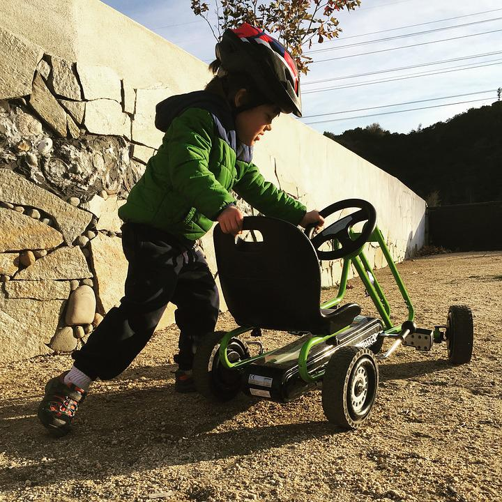 Quadricycle, Child, Karting, Go Kart, 3 Years Young