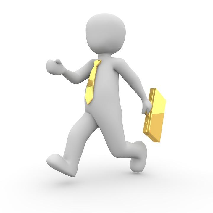 Businessman, Figure, 3d, Tie, Suitcase, Man, Person