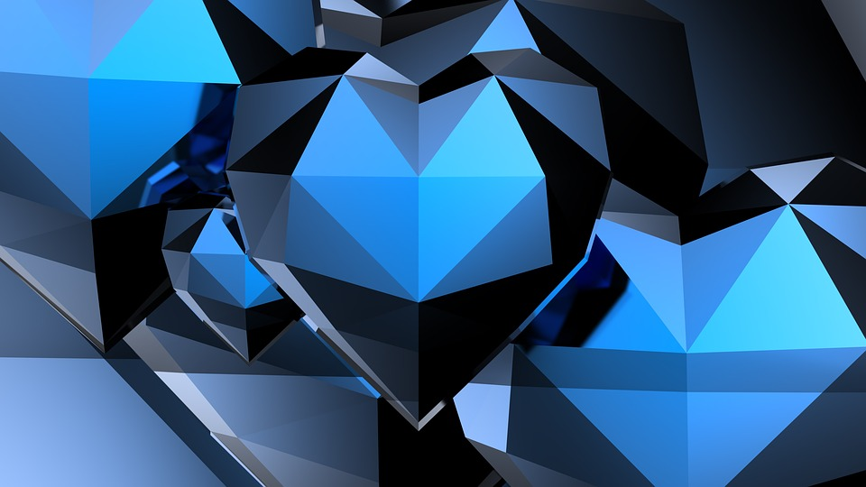 Triangle, Shape, Abstract, Geometric, Heart, 3d