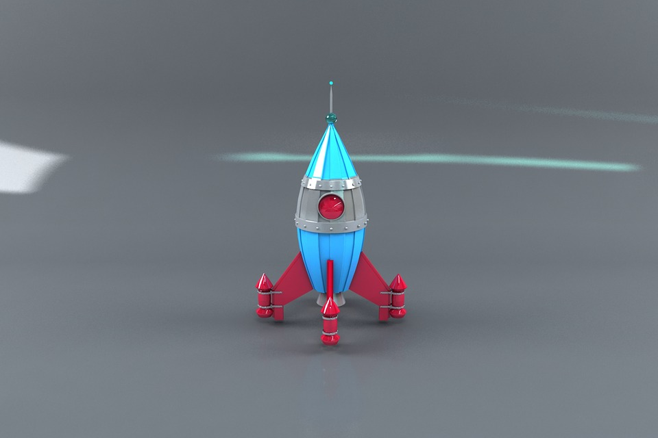 Space Rocket, 3d, 3d Modeling