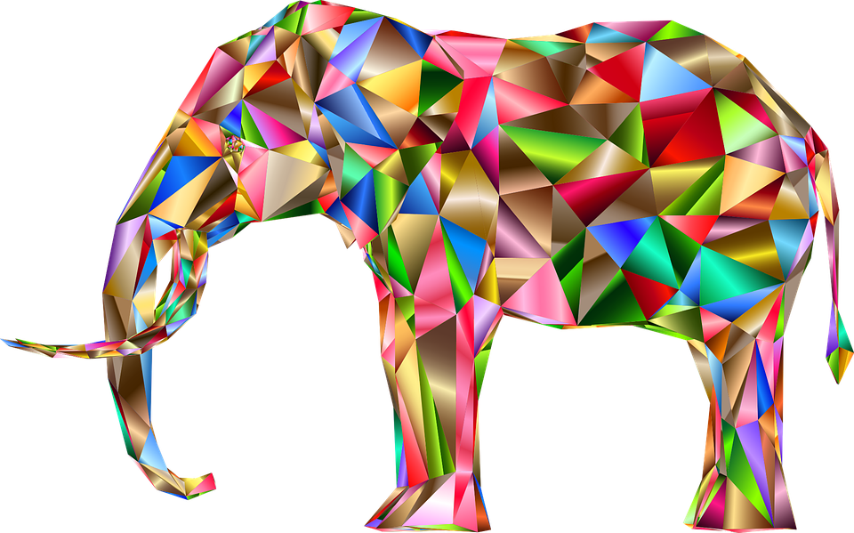 Three D, 3d, Abstract, Art, Elephant, Pachyderm, Animal