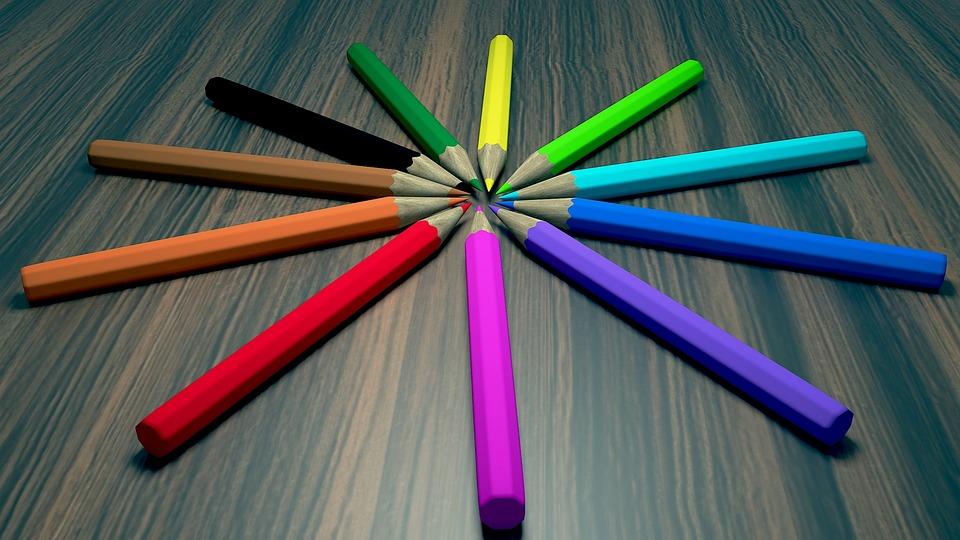 Pencils, Table, 3d