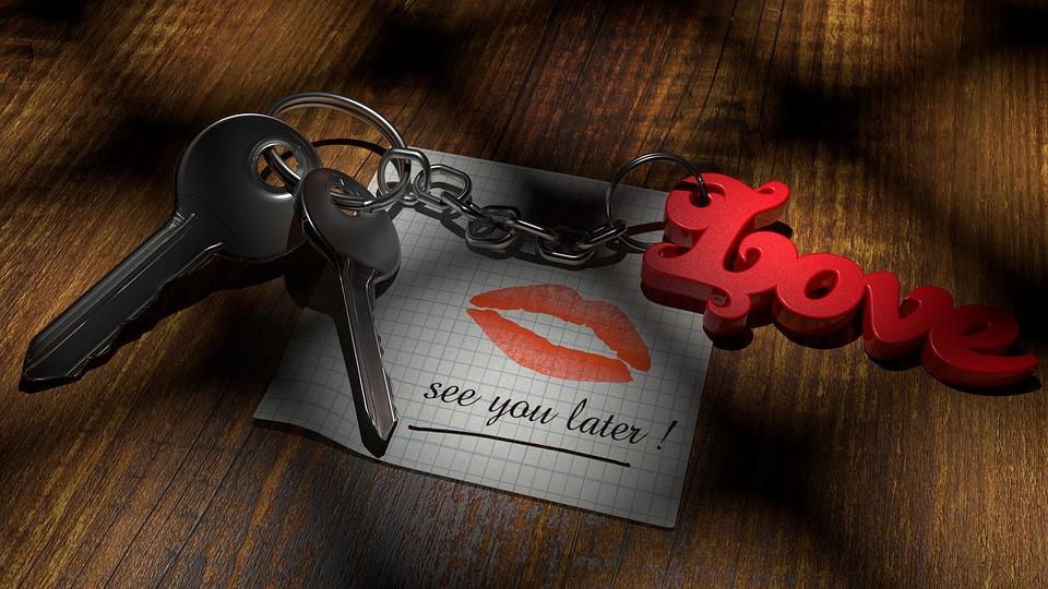 Valentine's Day, Love, Key, Still Life, 3d, Blender