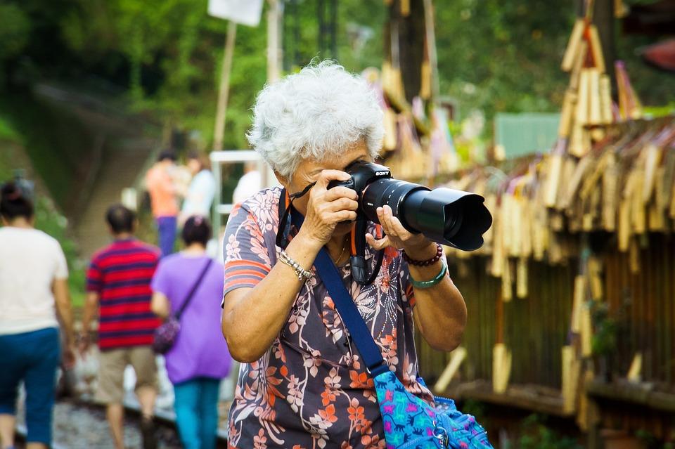 Grandma, Sony, Dslr, Camera, 70, Elderly, 60, Grey