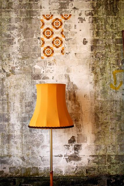 Retro Lampshade, Retro Lamp, 70th, Lampshade, Lamp