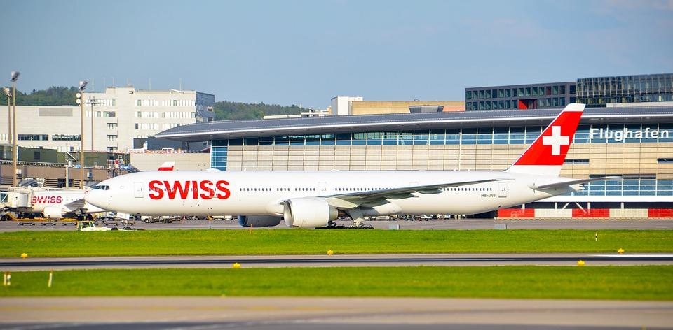 Aircraft, Jet, Swiss, Boeing, 777, Travel, Flight