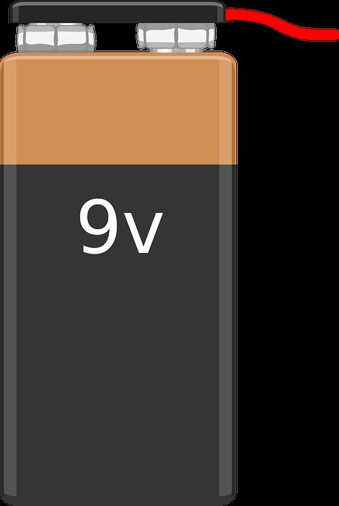 Stack, Battery, 9v