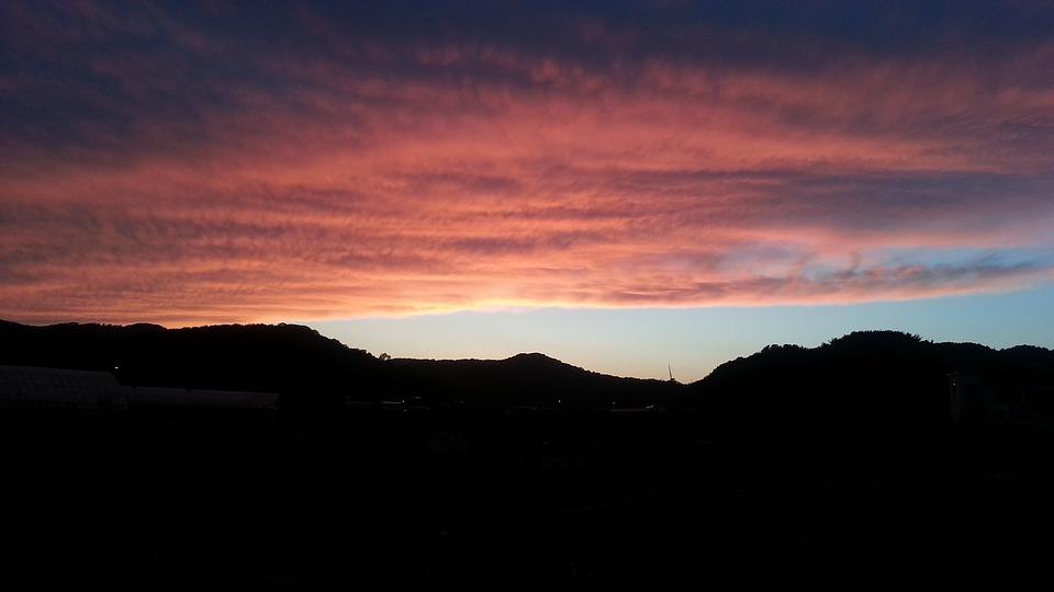 A Flaming Sunset, Glow, Nature, Sunset, Solar
