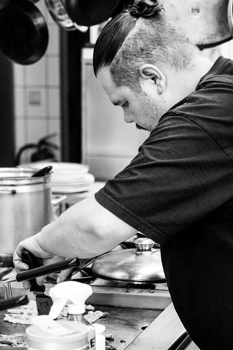 Human, Adult, A, Man, Cooking, Portrait, Frying Pan