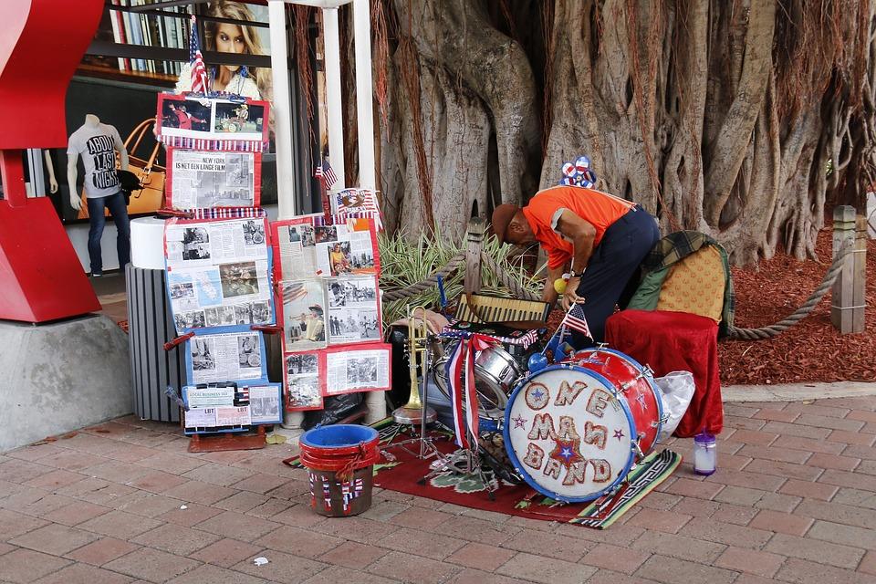 Music, Street, Work, Artist, Exposure, A Man