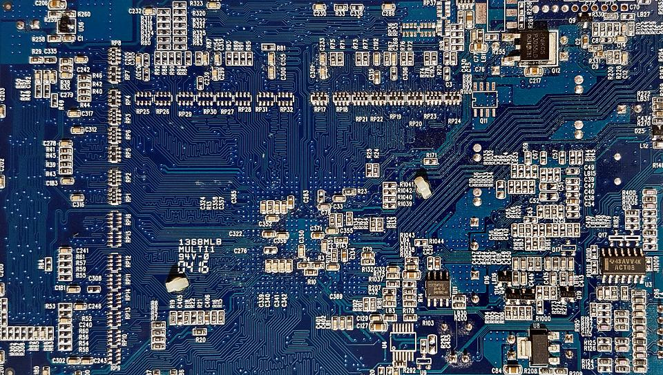 Computer, A Printed Circuit, Motherboard