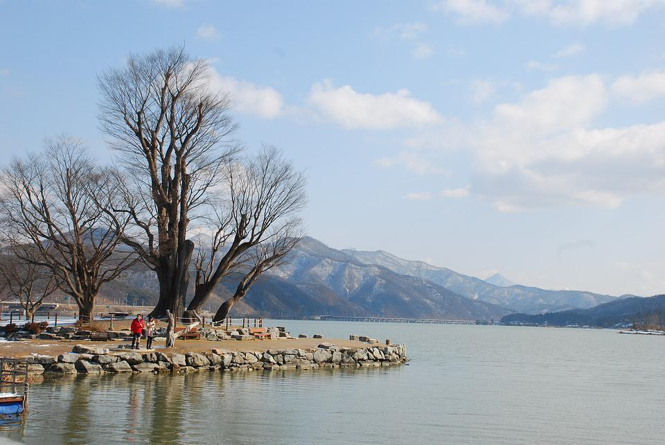 Two Water Head, Korea, Winter, Landscape, A River