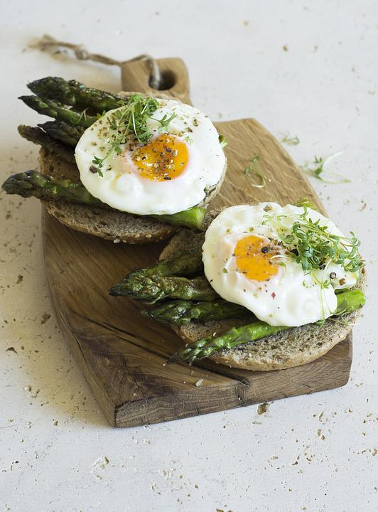 Egg, Asparagus, A Sandwich, Breakfast, Food, Eating