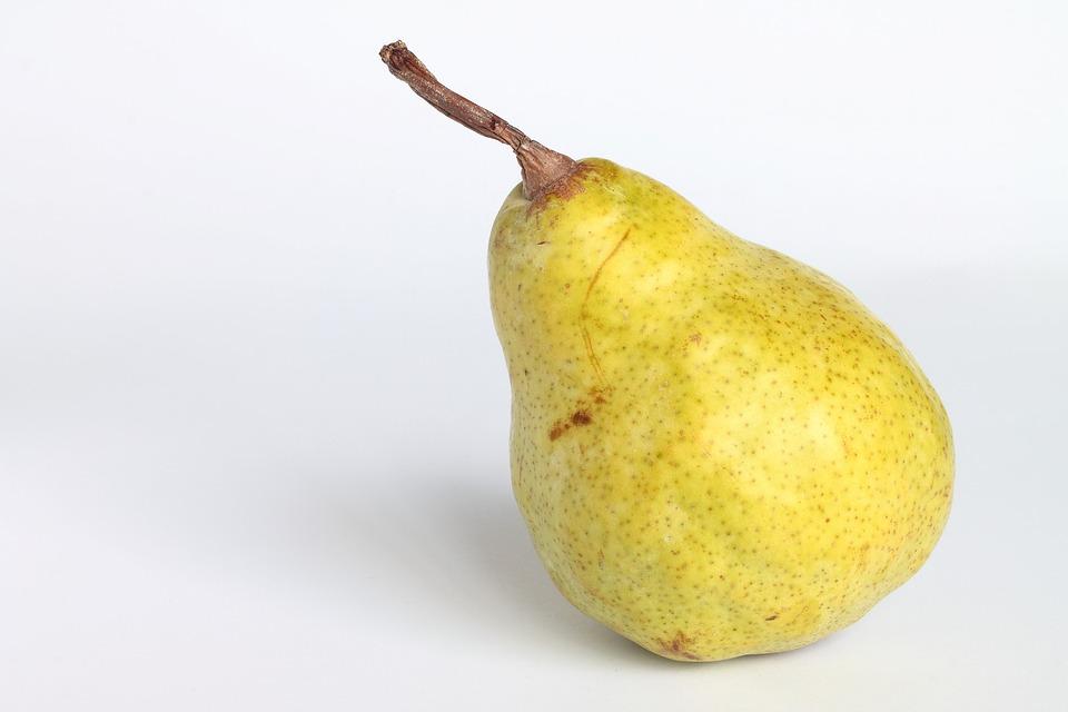 Pear, Green Pear, Fruit, A Single Piece Of Fruit