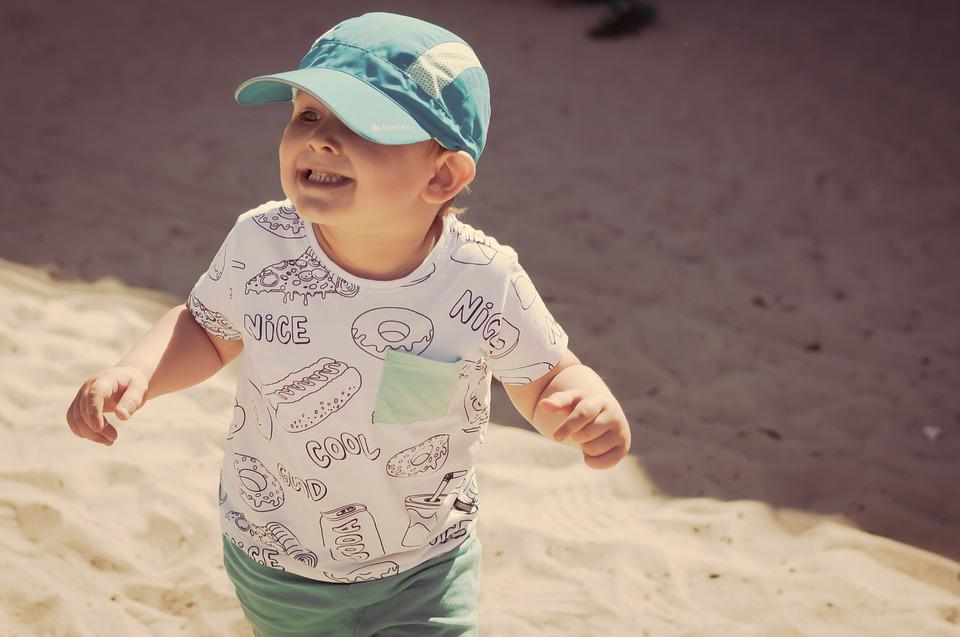 Boy, Child, Summer, Of Copy, A Smile, A Small Child