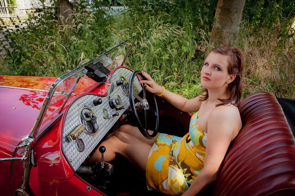 Sports Car, Woman, A, Auto, Model, Girl, Beautiful