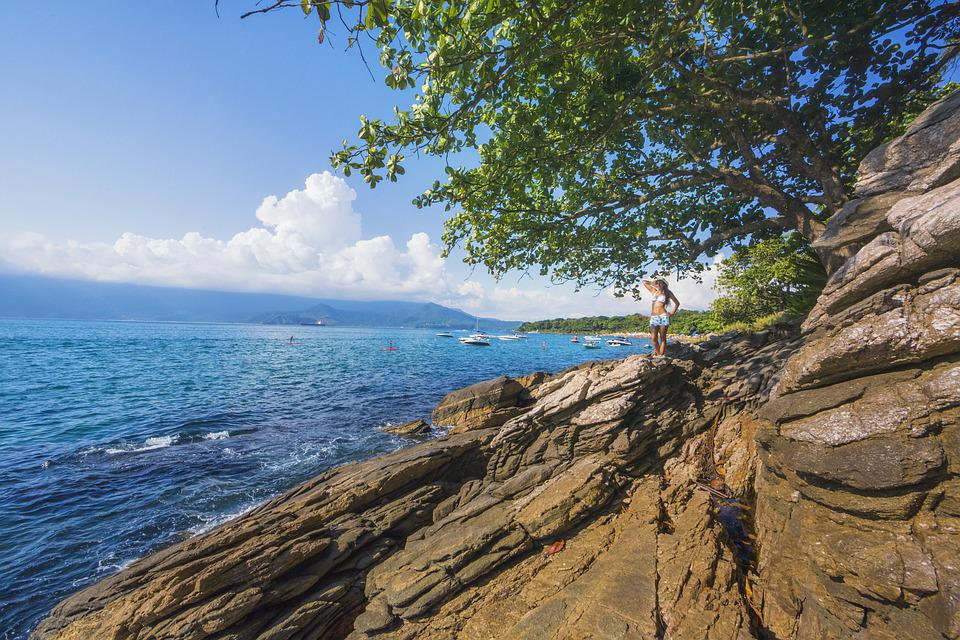 Litoral, Blue Sea, Blue Sky, A Stone In The Sea