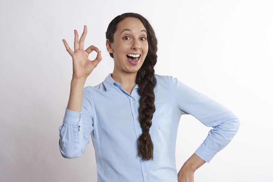 Ok, A-ok, Woman, Yes, Positive, Symbol, Success, Good