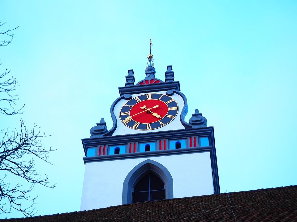 Steeple, Church, Clock Tower, Stadtkirche Aarau, Aarau