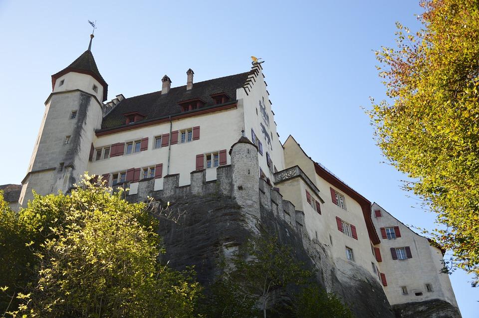 Closed Lenzburg, Lenzburg, Castle, Aargau, Switzerland