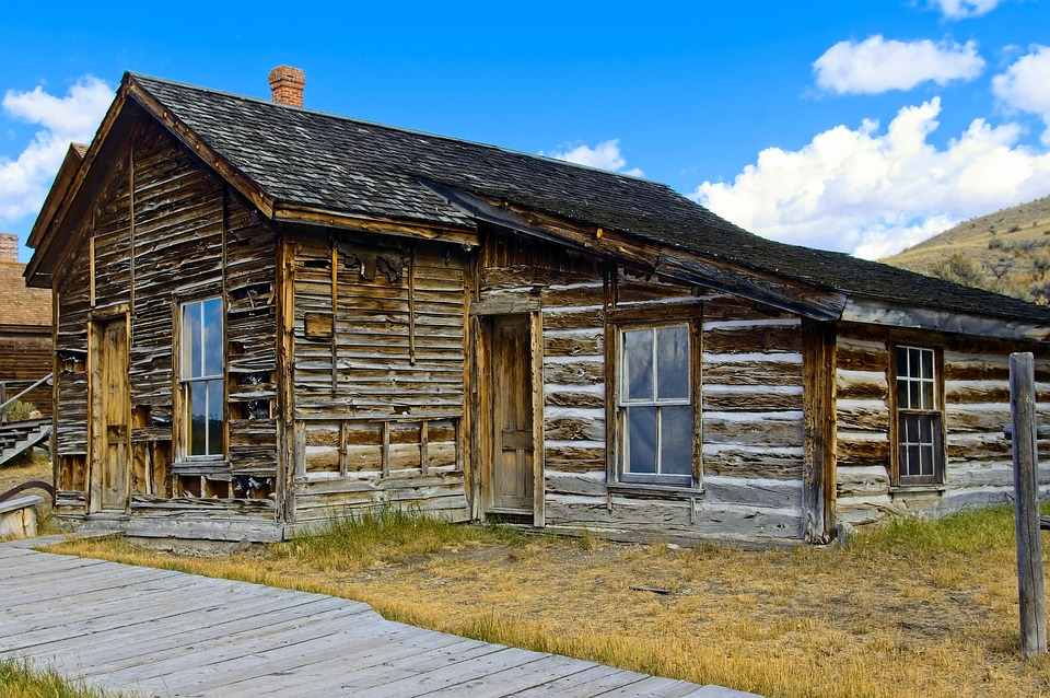 Abandoned Bannack Home, Bannack, State, Park, Ghost