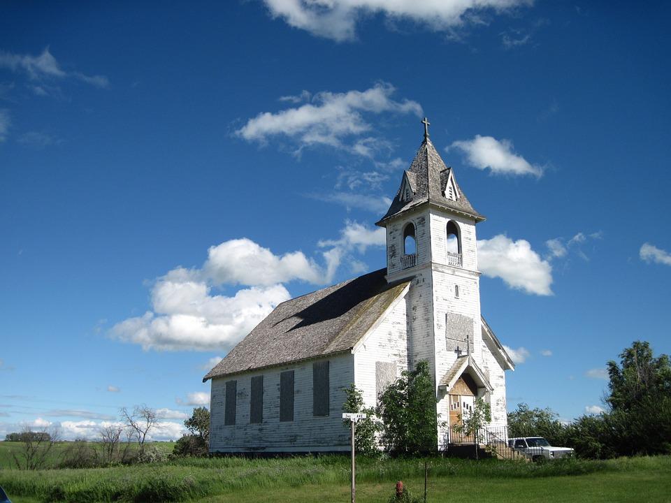Abandoned Church, North Dakota, Church, Architecture