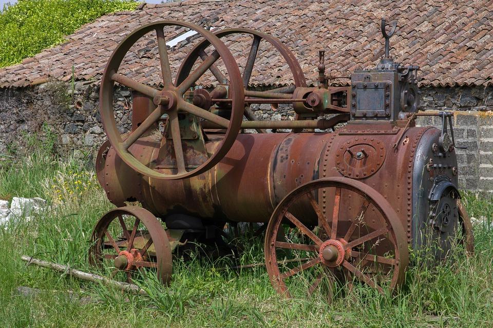 Ruin, Machine, Abandoned, Former, Metal, Rusty