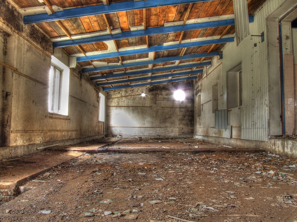 Hdr, Garage, Old, Abandoned, Hall, Workshop, Factory