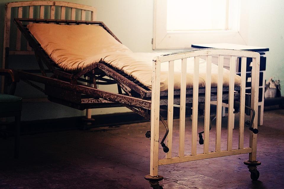Hospital Bed, Gurney, Old Building, Abandoned Hospital