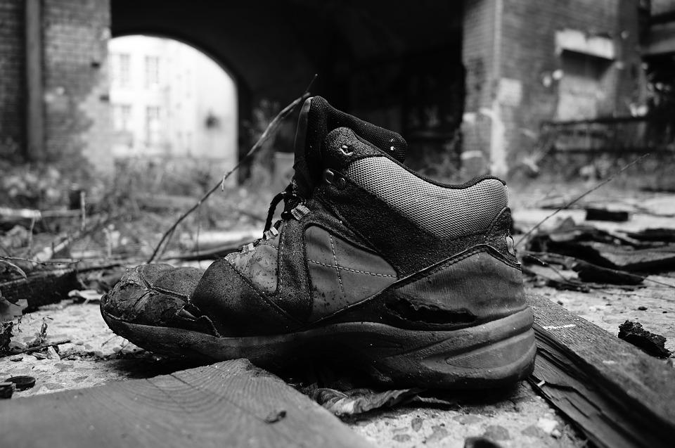 Abandoned Places, Shoe, Old, Decay