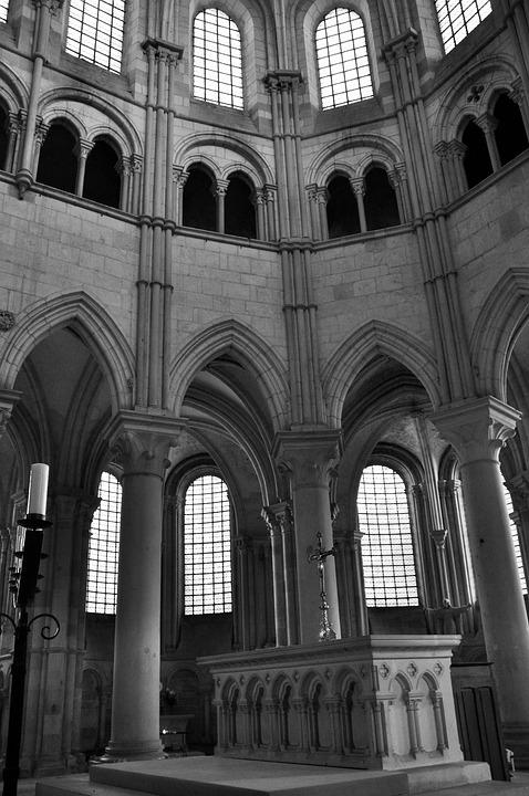Architecture, Romanesque Art, Abbey, Religion, France