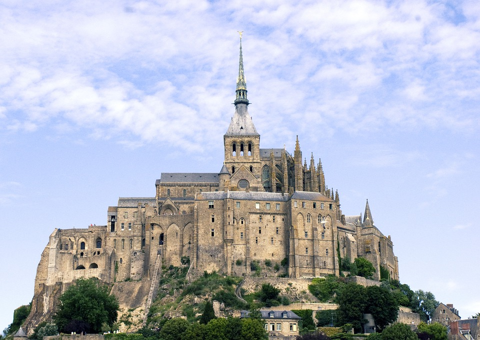 Mont, Saint, Michel, Normandy, France, Island, Abbey