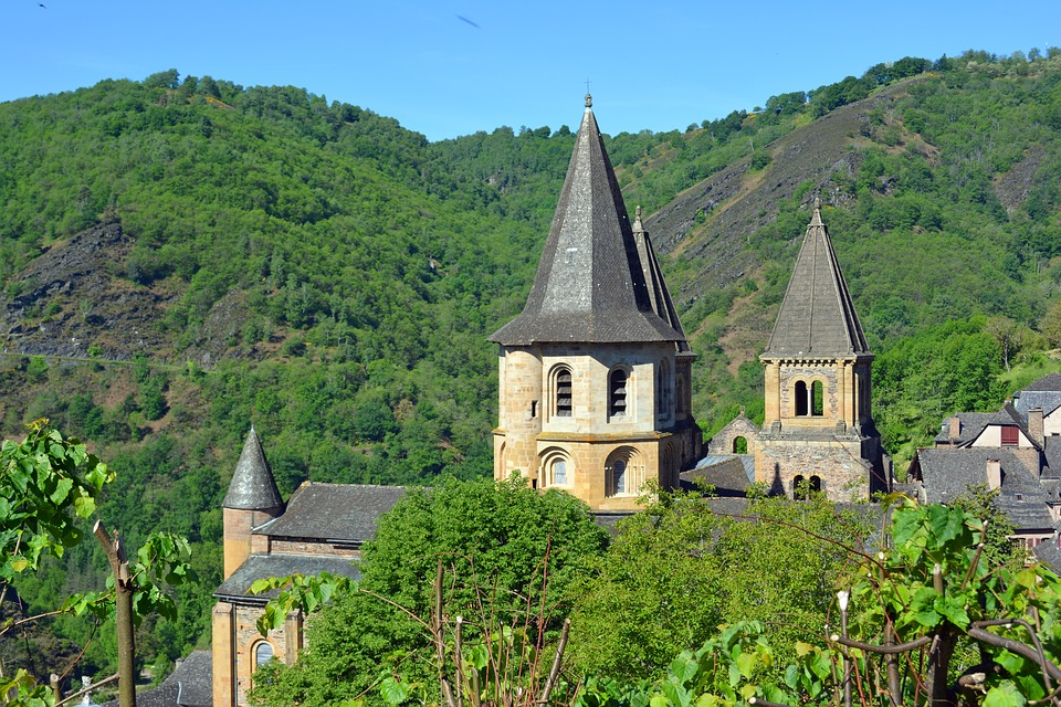 Aveyron, Conques, Abbey, Church, Pilgrimage, Bell Tower