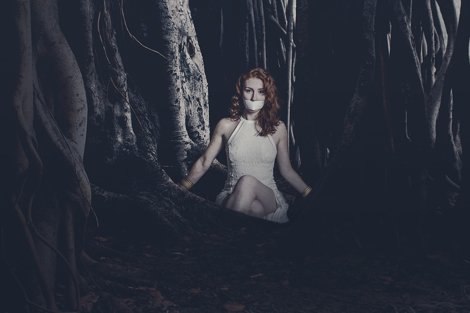 Woman, Forest, Abducted, Connected, Darkness