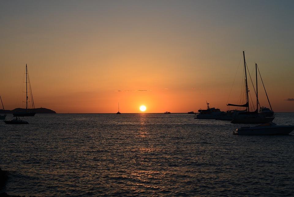 Sunset, Abendstimmung, Ibiza, Balearic Islands, Sea