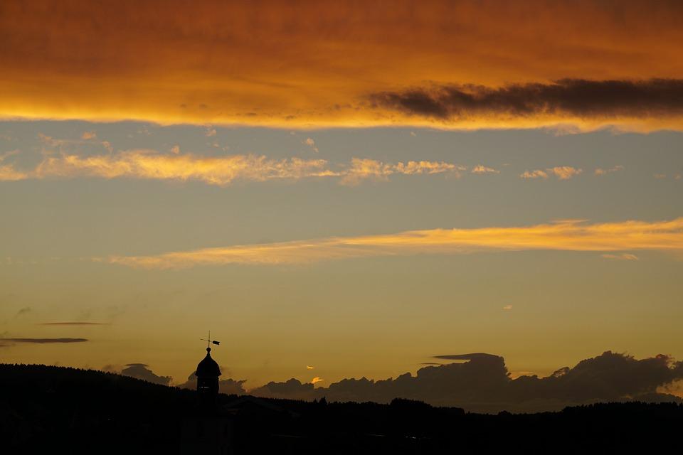 Evening Sky, Clouds, Abendstimmung