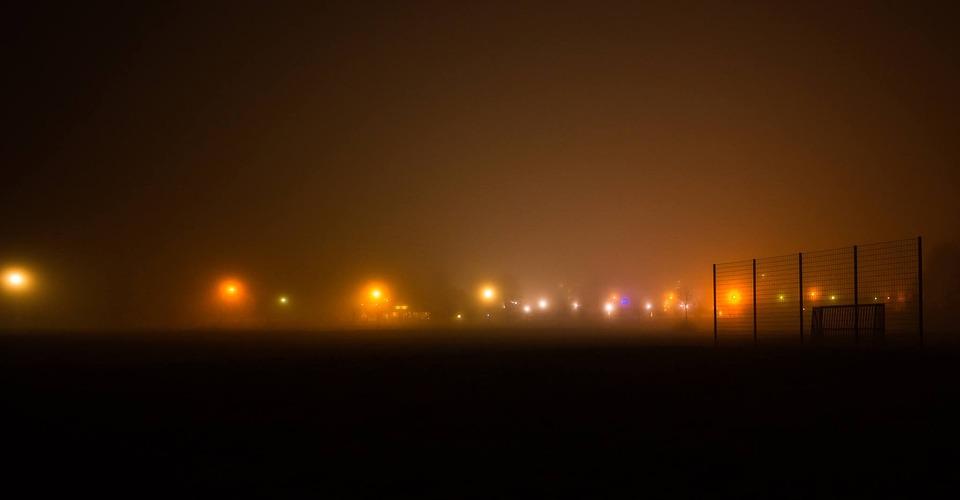 Lights, Fog, Meadow, Abendstimmung, Pasture
