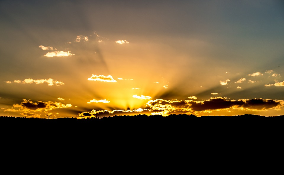 Sunset, Afterglow, Evening Sky, Mood, Abendstimmung